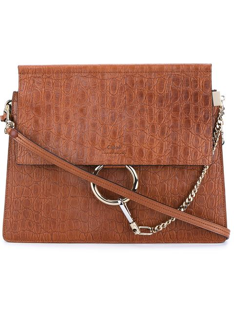 Chloé Embossed Leather Faye Bag
