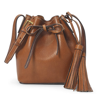 MINI LEATHER BUCKET BAG @ Ralph Lauren