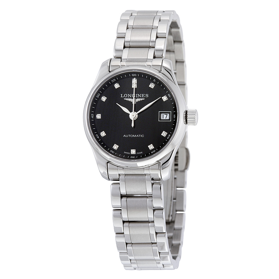 Longines Master Collection Black Dial Stainless Steel Automatic Ladies Watch L21284576 - Master Collection - Longines - Shop Watches by Brand - Jomashop