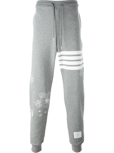 Thom Browne Embroidered Details Sweat Pants