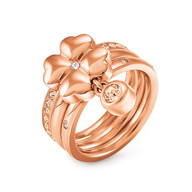HEART4HEART RING Rose Gold Plated - 3R15T006RYC