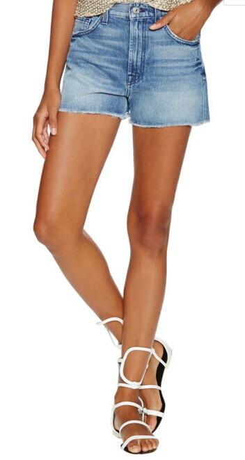 Raw Denim Cut Off Short by 7 for All Mankind at Gilt