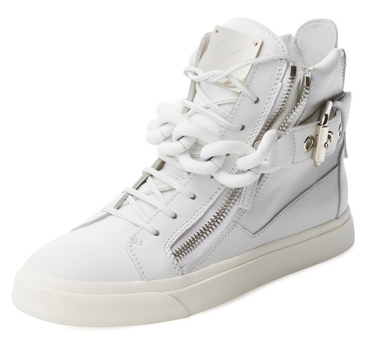 Chain-Link Leather Hi-Top by Giuseppe Zanotti at Gilt