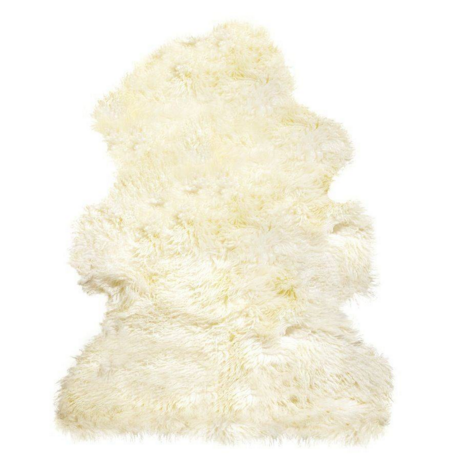 100% New Zealand Sheepskin Curly Single Natural