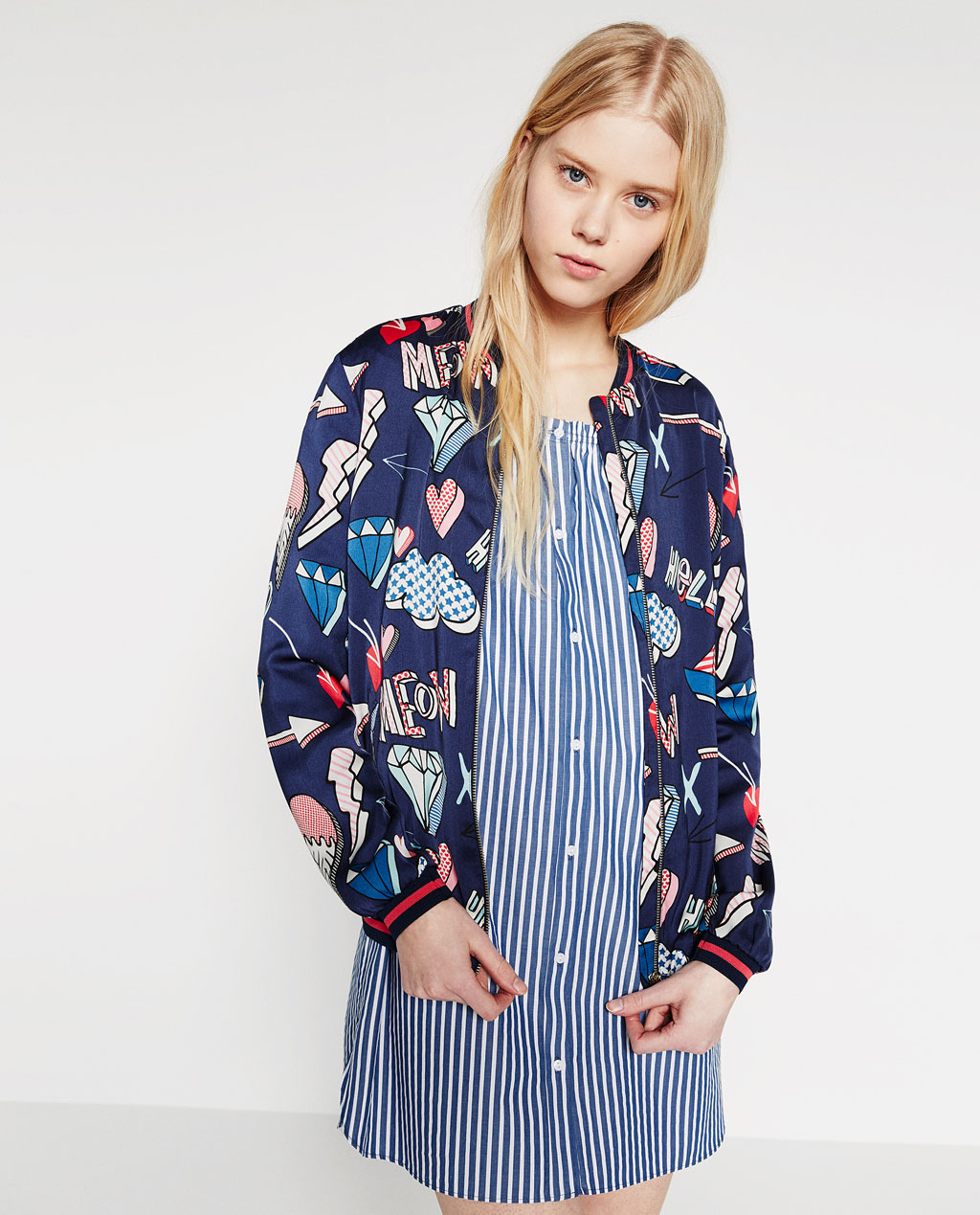 CROPPED BOMBER - OUTERWEAR-TRF