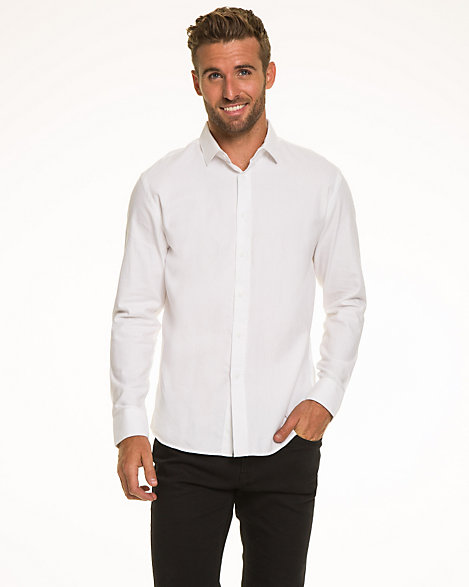 Le Château: Cotton Twill Tailored Fit Shirt