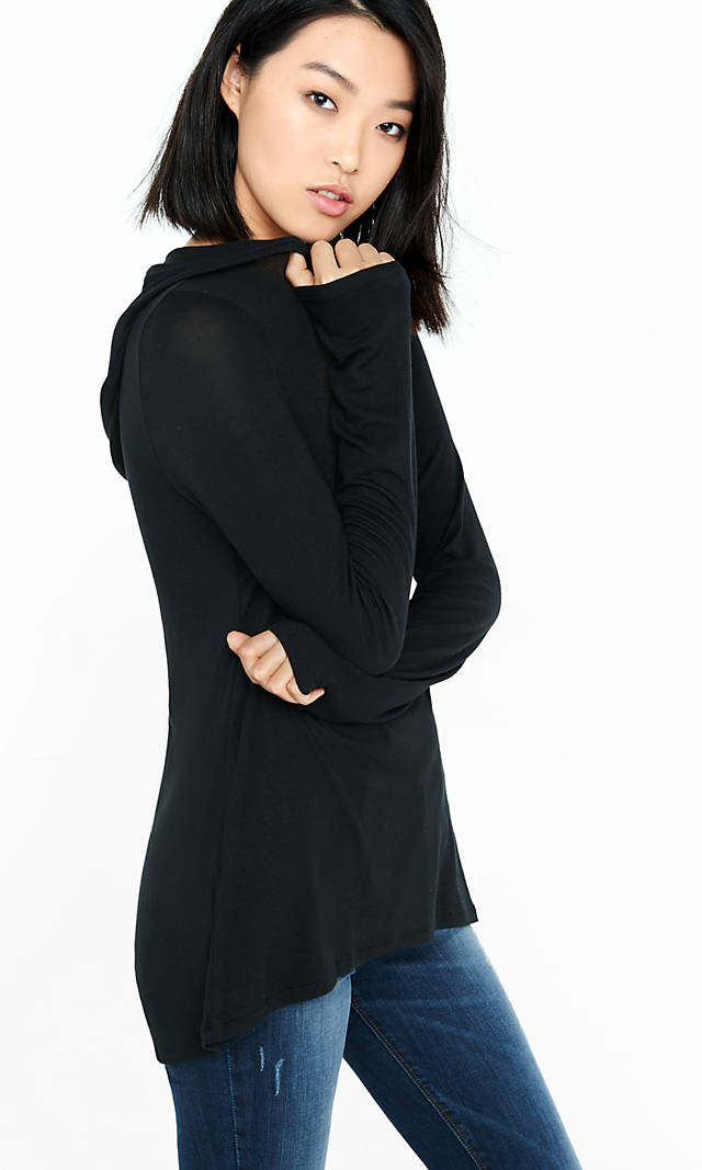 Express One Eleven Long Sleeve Hooded Tee