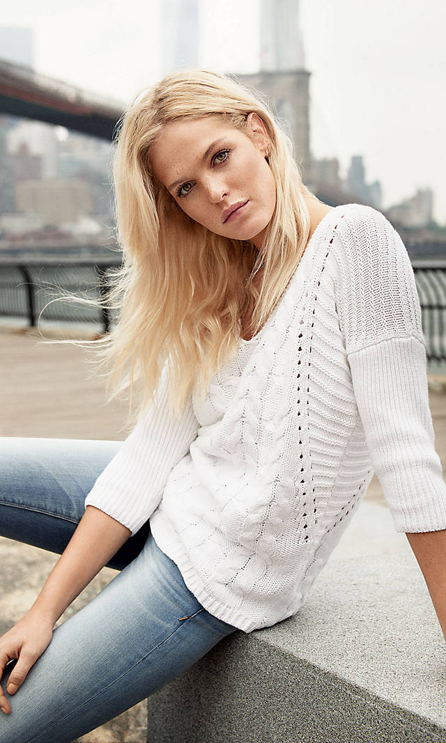 Cable Knit Express London Tunic Sweater