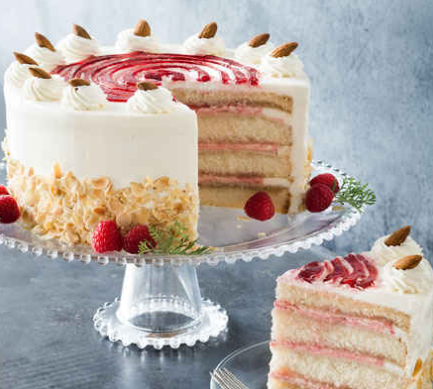 Frosted Art Bakery Raspberry Petit Four Cake