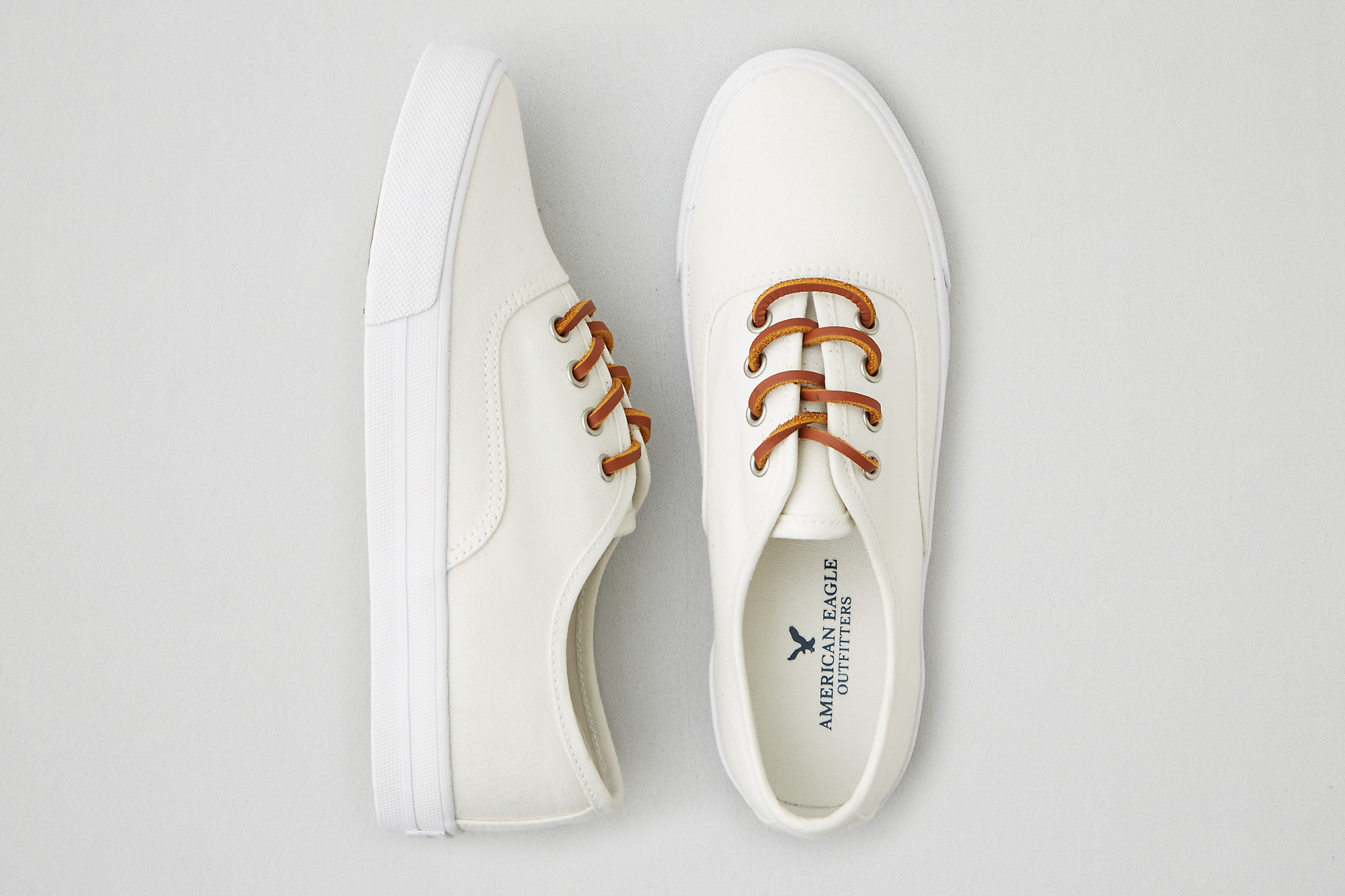 AEO Lace Up Sneaker , White