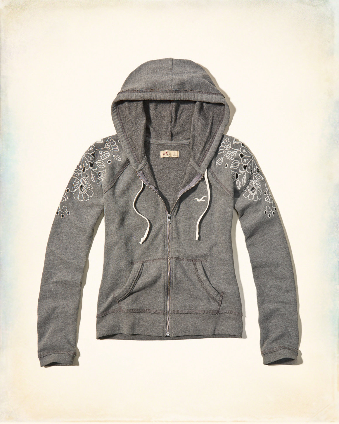Embroidered Laser-Cut Hoodie