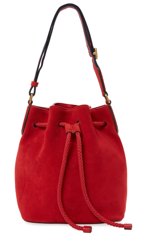Gucci Clothing & Accessories Small Suede Bucket Bag