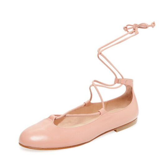 Orlando Lace-Up Ballet Flat by French Sole FS/NY at Gilt