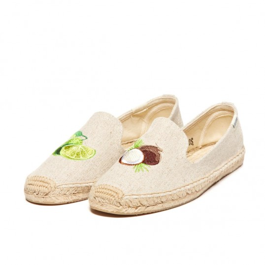 Lime and Coconut Sand Espadrilles