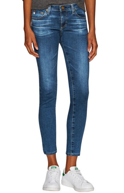 Low-Rise Denim Legging by AG Adriano Goldschmied at Gilt