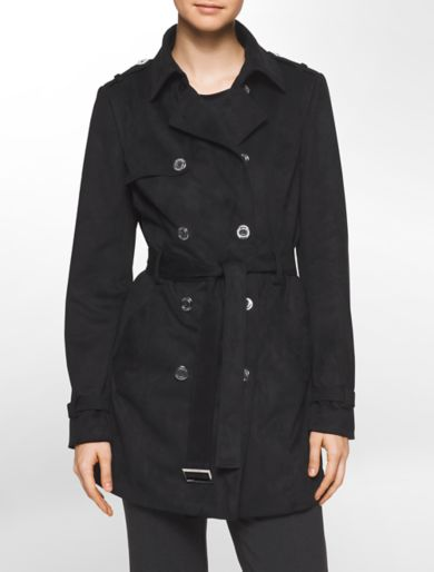 ultra-suede trench coat