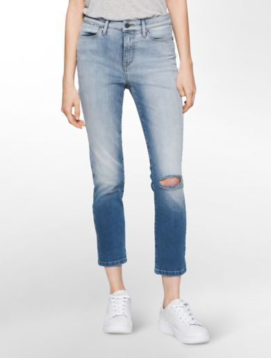 ultimate skinny high rise crop lille wash jeans