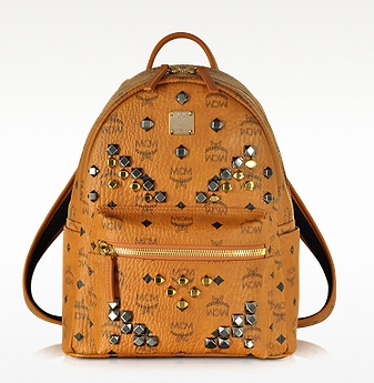 MCM Cognac Small Stark Backpack at FORZIERI