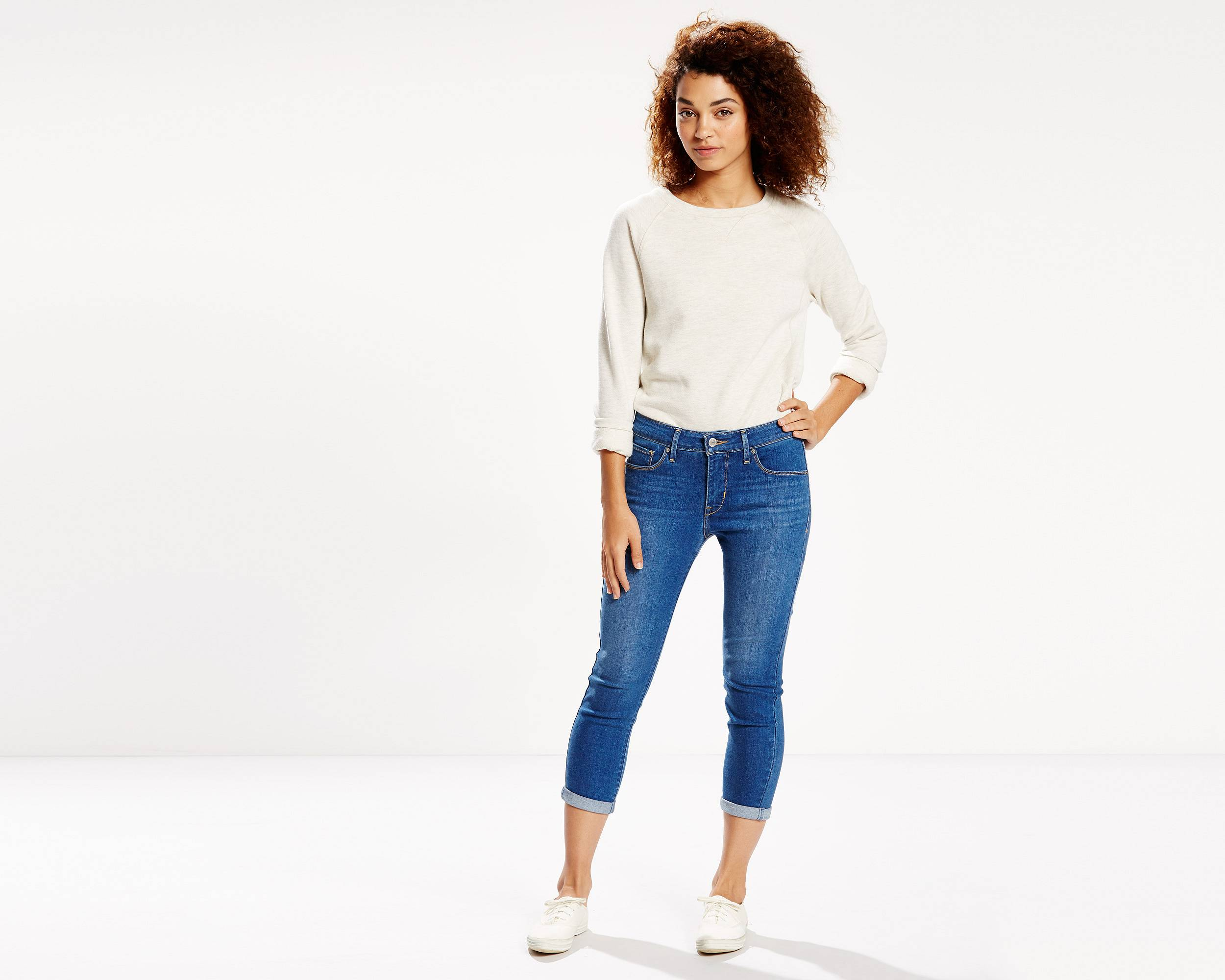 Mid Rise Skinny Cropped Jeans | Bright Pass |Levi's® United States (US)