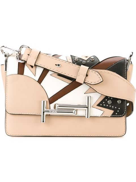 Tod's Contrast Patch Embellished Cross Body Bag