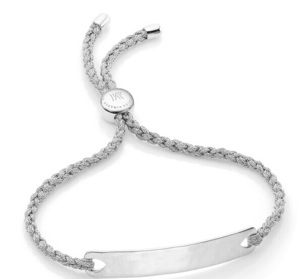 Silver Havana Friendship Bracelet- Silver for Strength | Monica Vinader