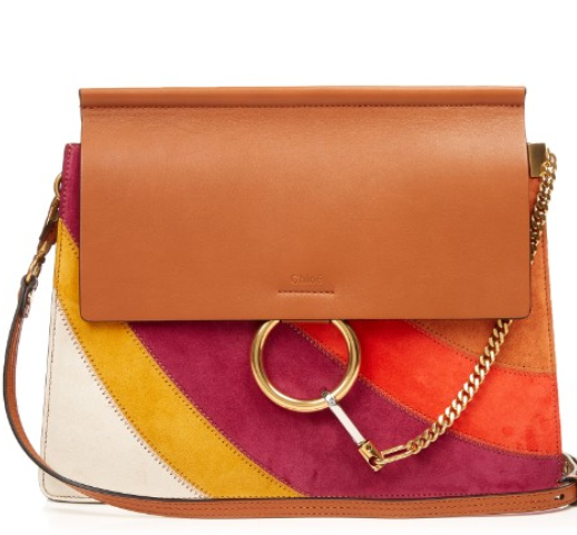 Faye suede and leather shoulder bag | Chloé | MATCHESFASHION.COM US