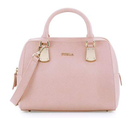 Furla Scarlett Small Leather Satchel Bag, Moonstone公文包