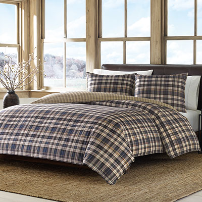 Eddie Bauer Port Gamble Comforter and Duvet Set