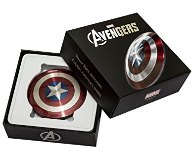 Amazon.com: MARVEL® Shield of Captain America 6800mAh Ultra Slim Dual USB PowerBank External Battery Pack: Cell Phones & Accessories