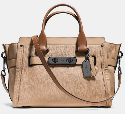 COACH SWAGGER CARRYALL IN COLOR BLOCK LEATHER | Dillards