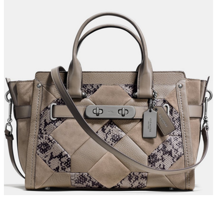 COACH SWAGGER IN PATCHWORK EXOTIC EMBOSSED LEATHER | Dillards