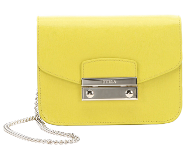 Furla Lime Green Leather Mini 'julia' Chain Crossbody (375134901) | Bluefly