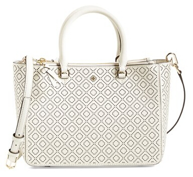 Tory Burch 'Small Robinson' Perforated 花纹杀手包
