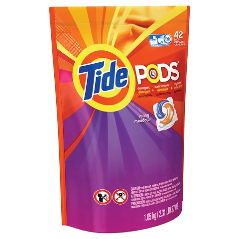 2x Tide Pods 42 count Spring Meadow Laundry Detergent Pacs