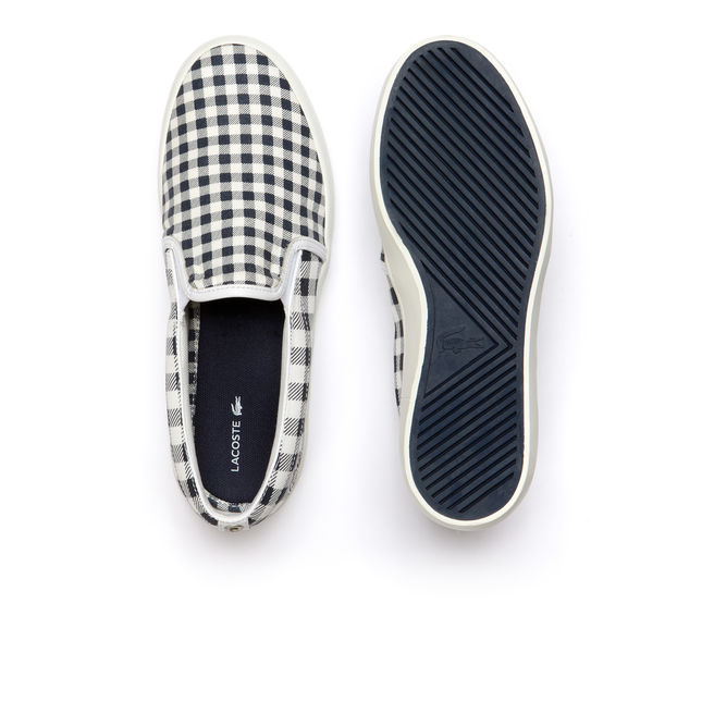 GAZON GINGHAM CANVAS SLIP-ONS