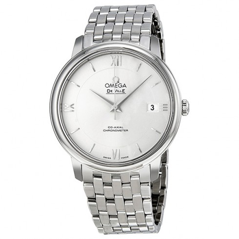 Omega Prestige Co-Axial Automatic Silver Dial Stainless Steel Men's Watch 424.10.37.20.02.001 - De Ville - Omega - Shop Watches by Brand - Jomashop