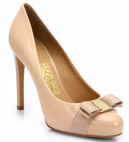 Salvatore Ferragamo Pimpa Patent Leather Bow Pumps