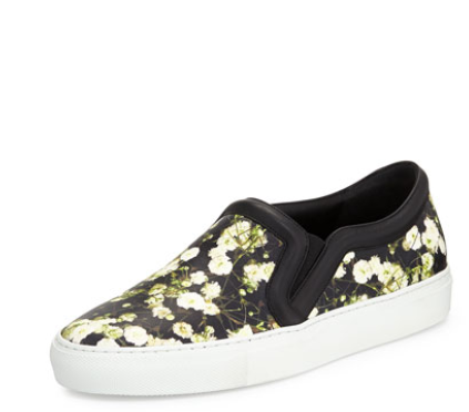 Givenchy Floral-Print Skate Sneaker, Baby's Breath