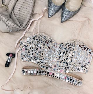 Carmen Embellished Bustier | GUESS by Marciano