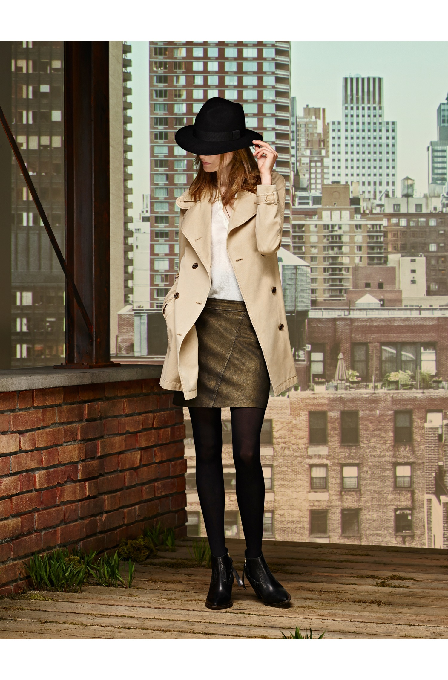 'Otrenchy-D'   Cotton Trench Coat