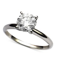 Diamond Round Solitaire Engagement Ring (1-1/2 ct. t.w.) in 14k White Gold