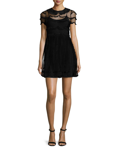 RED Valentino Peter Pan Collar Lace Dress