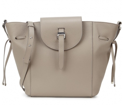 Meli Melo The Fleming medium taupe leather tote