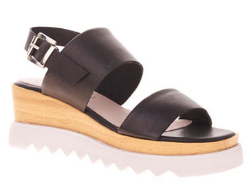 SOL SANA Traci Leather Wedge Sandals