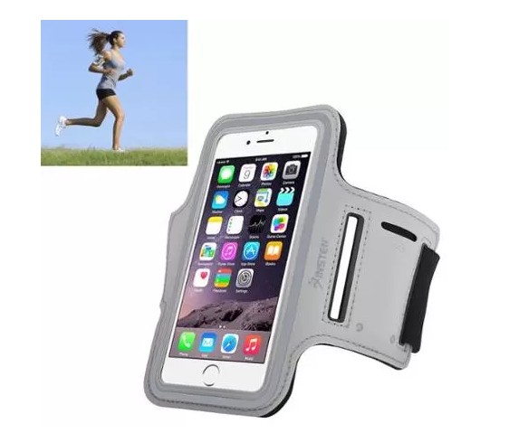 Insten Sport Armband Running Jogging Gym Exercise Case for iPhone 6 6S / Galaxy S6 S6 Edge (with key holder) Silver - Walmart.com