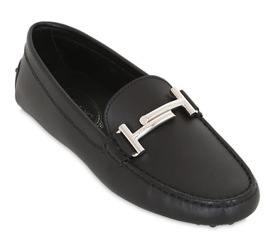 TOD'S GOMMINO DOUBLE T LEATHER DRIVING SHOES