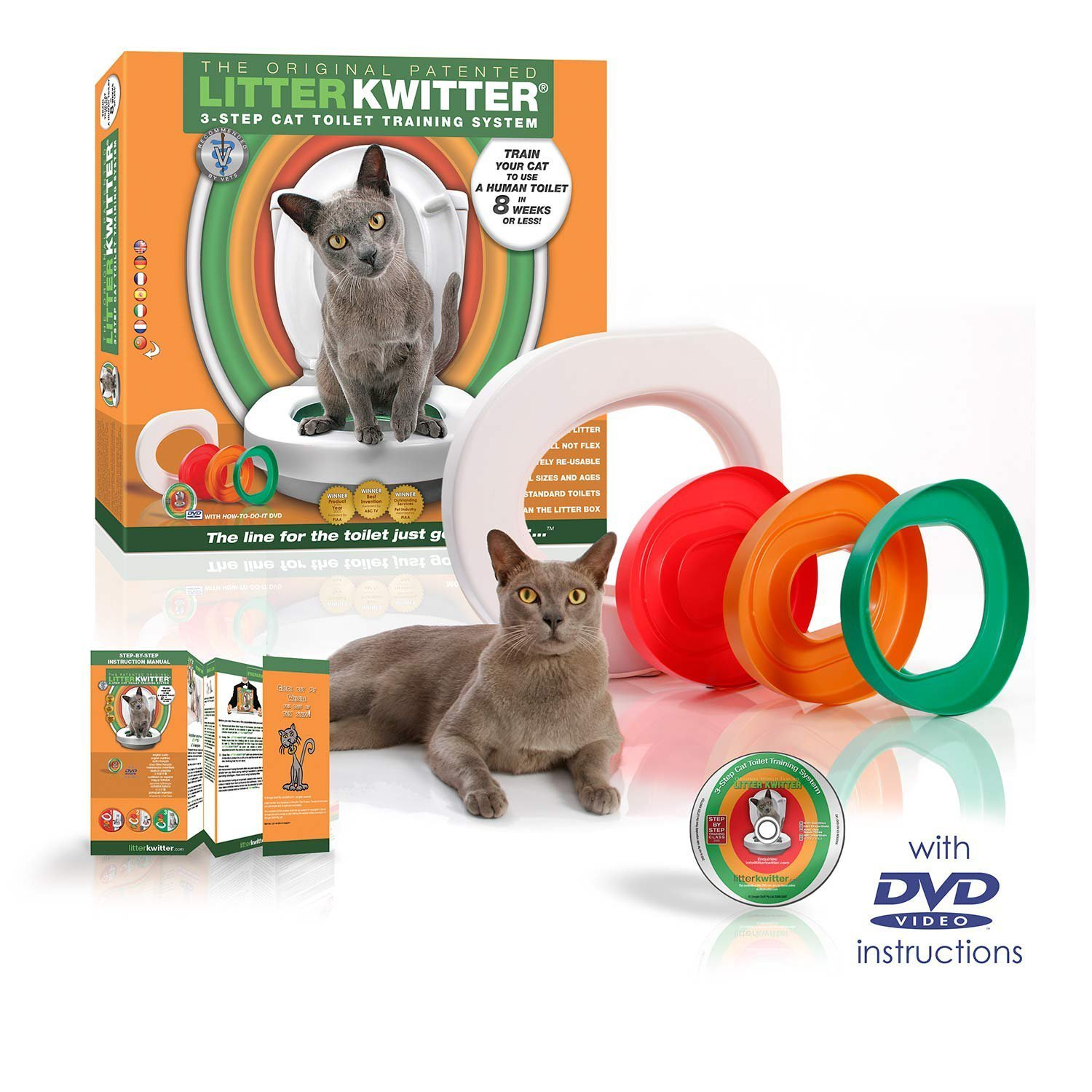 Cat Toilet Training System By Litter Kwitter  - With Instructional DVD
