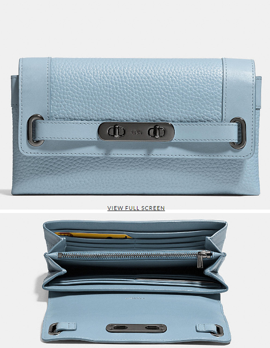 COACH Designer Wallets   Coach Swagger Wallet In Pebble Leather