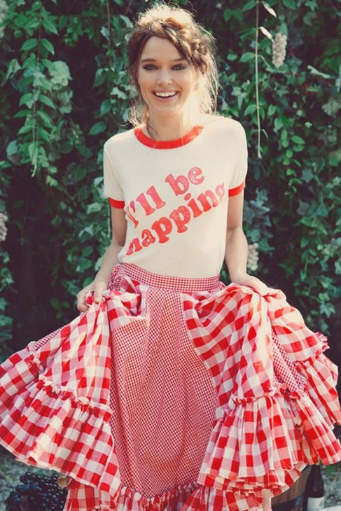 Wildfox Couture I'll Be Napping Vintage Ringer Tee in Vintage Lace