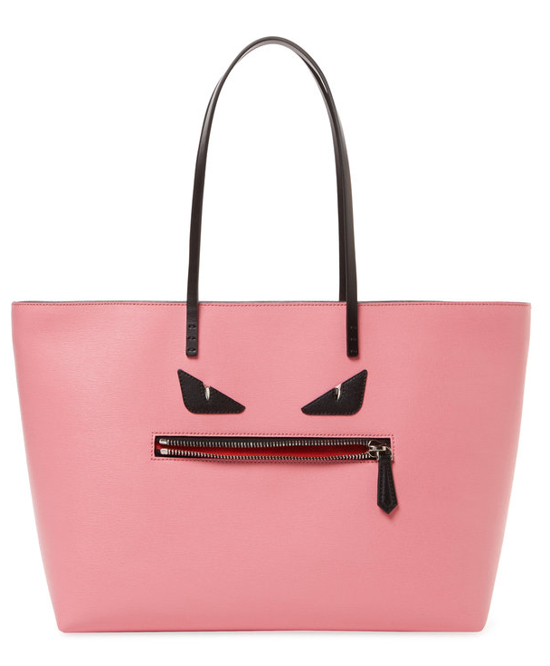 Fendi Monster Leather Roll Tote